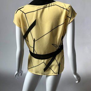 Tops - Abstract Wrap Tunic Top